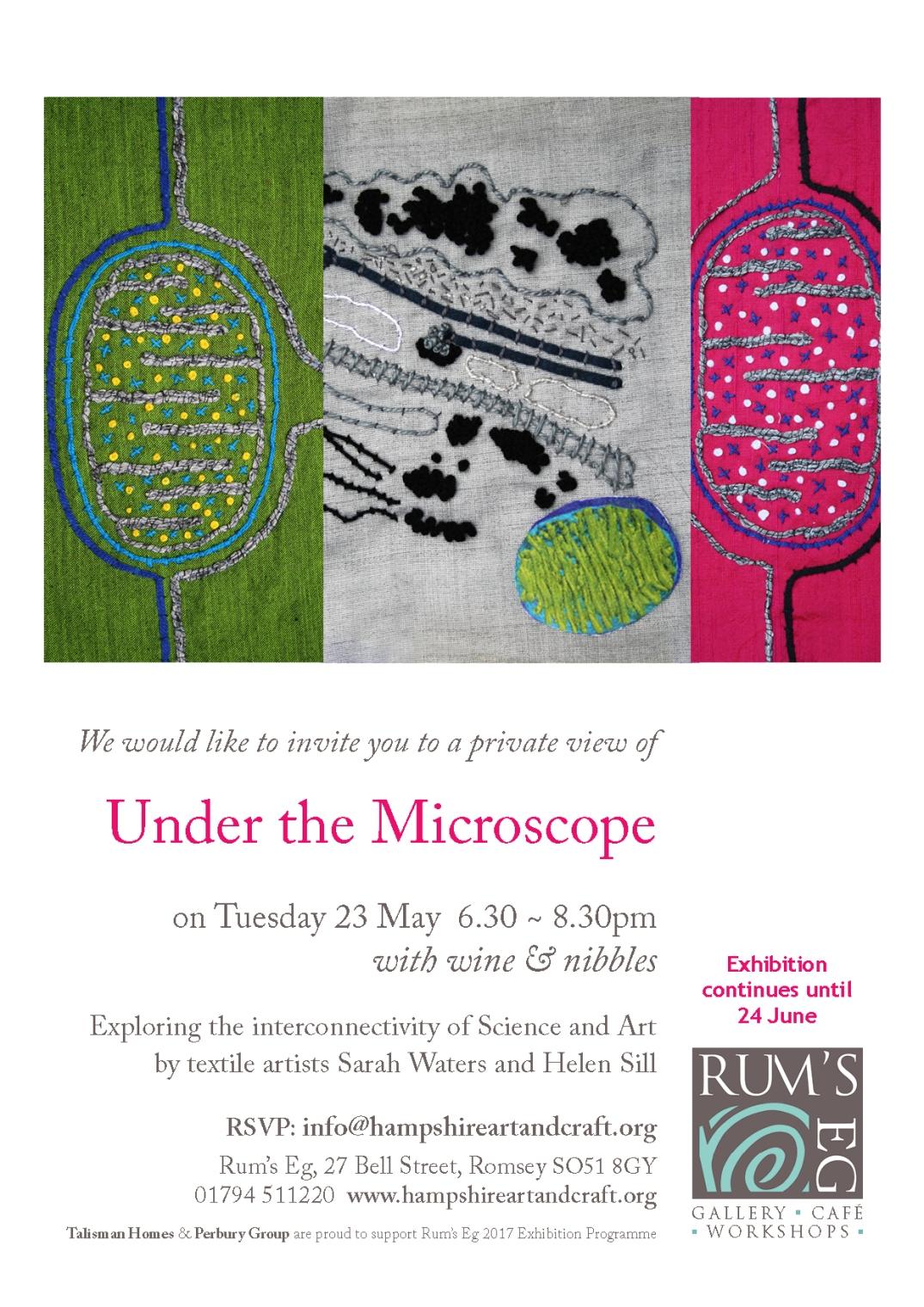 Under the Microscope PV invite
