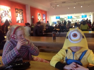 23year old and minion in the very reasonably (not) priced cafe alongside the very reasonably (not!!!) priced gift shop
